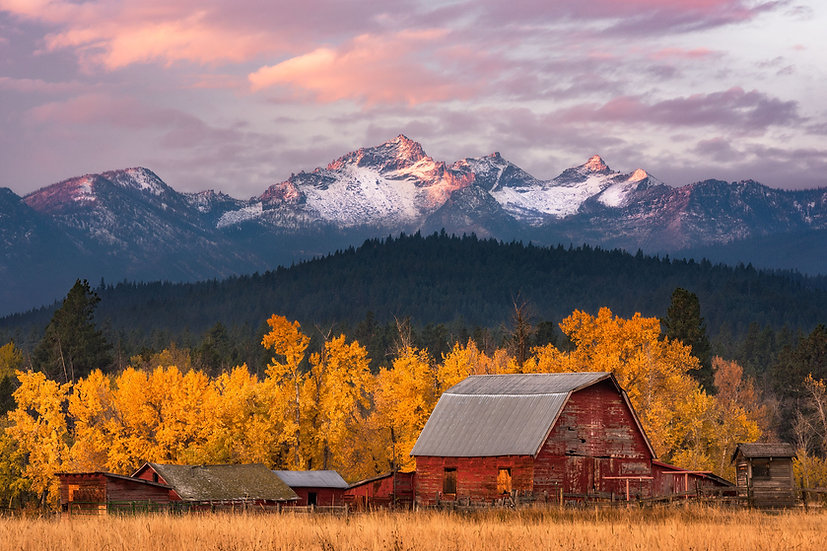 Barn Montana Mountains Scott Wheeler Photography