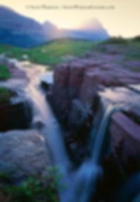 Montana Waterfall in Glacier National Park by Scott Wheeler Landscape Photography