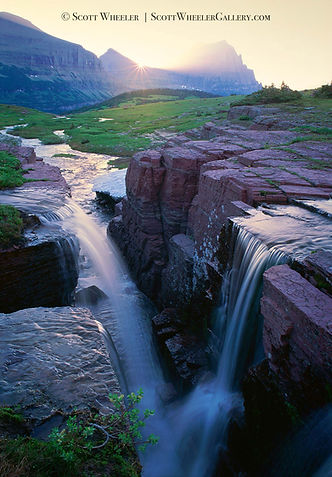 Montana Waterfall in Glacier National Park by Scott Wheeler Landscape Photography