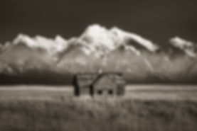 homestead in montana black and white landscape photography by scott wheeler