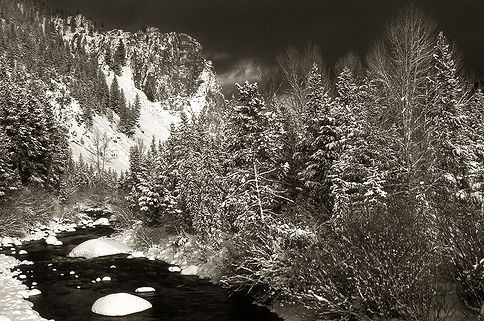 wise river montana in winter