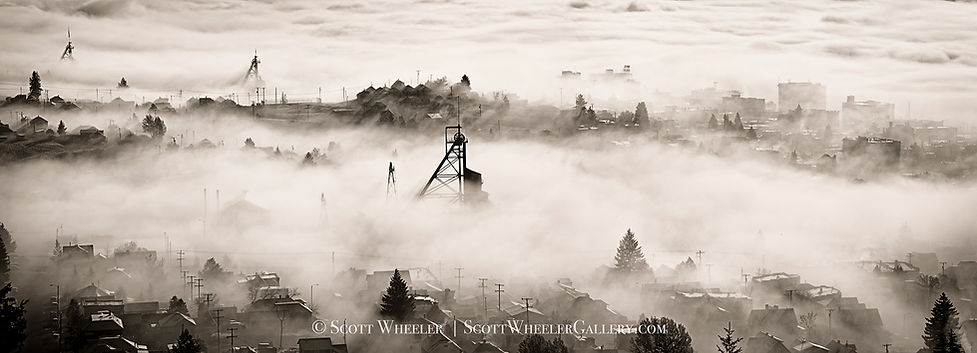 Butte Montana black and white photography by Scott Wheeler