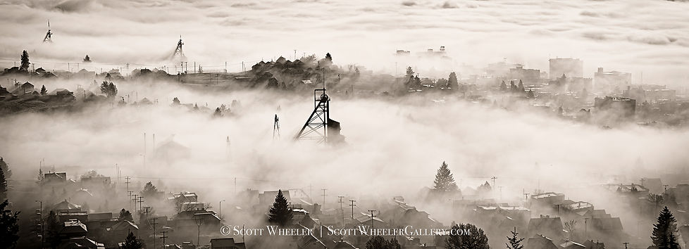 butte montana mines black and white landscape photography by scott wheeler