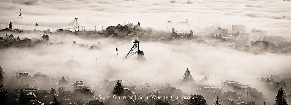Scott Wheeler Photography Butte Montana Mine black and white