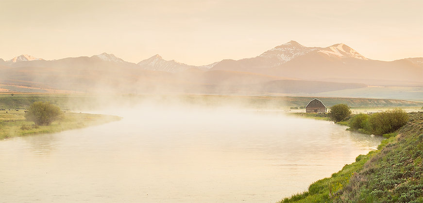 Barn on the Big Hole River, Montana landscape photography by scott Wheeler