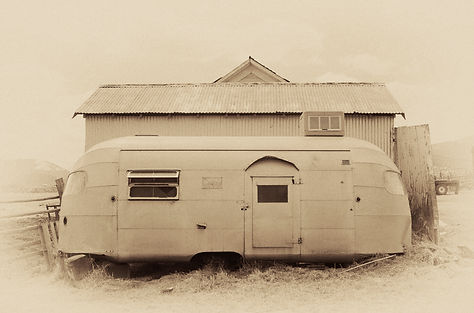 Abandoned vintage Airstream trailer photograph by Scott Wheeler