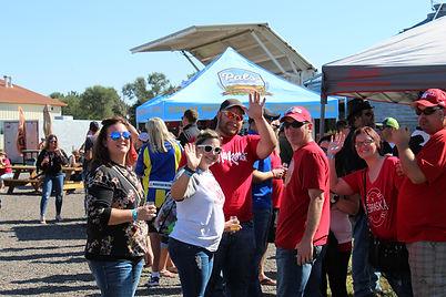Group of friendly people enjoying the western nebraska beer festival at pals brewing company north platte nebraska ne