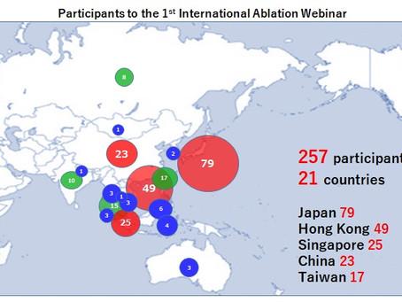 1st International Ablation Webinar was successful!