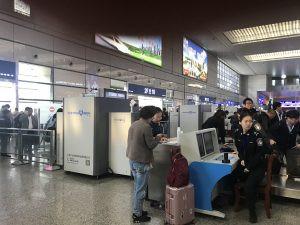 中国の高速鉄道で上海から南京に移動