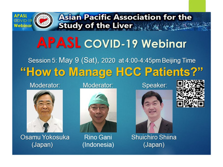"APASL COVID-19 Webinar ""How to Manage HCC Patients?"""