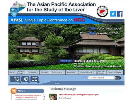 Bitte schicken Sie und ihre Kollegen uns eine Kurzfassung und besuchen Sie die APASL STC 2018 on HCC