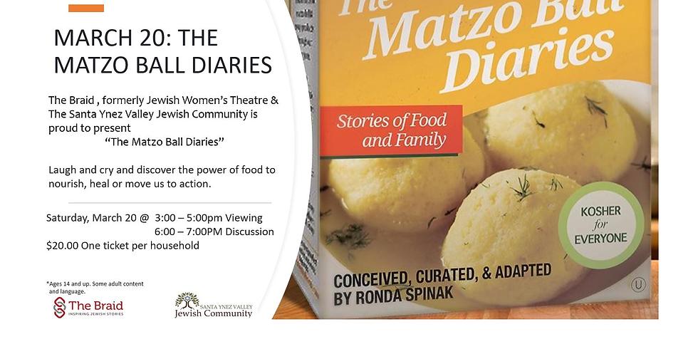 Matzoh Ball Diaries