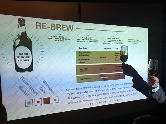 Re-brew, carlsberg 1883, bira ve yemek, bira tadımı