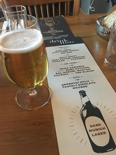 bira ve yemek menüsü
