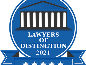 Lawyers of Distinction 2021 Acceptance