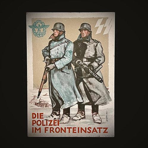 SS Polizei postcard