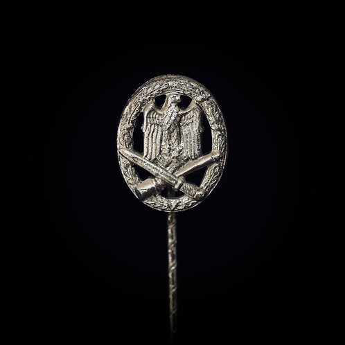 Assault badge pin