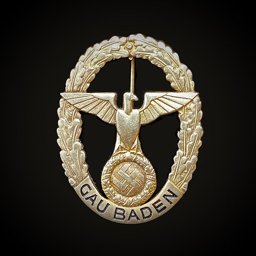Gau Baden honour badge - gold