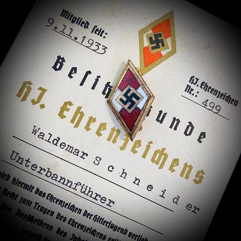 Hitlerjugend Honour Badge