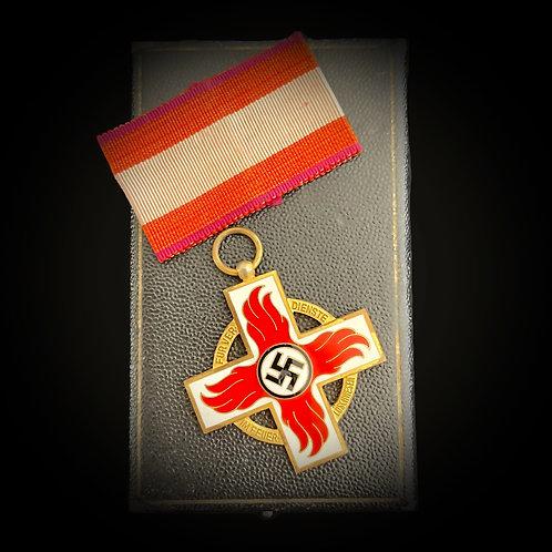 Reichsfeuerwehr award in gold