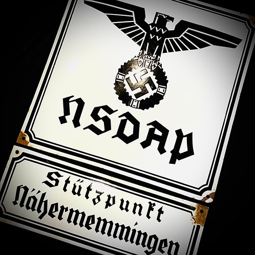 NSDAP enamel signs