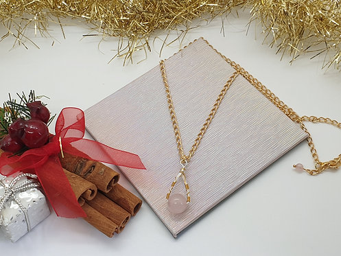 Gold And Silver Wire Wrapped Necklace