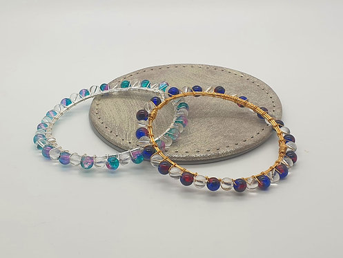 Clear Quartz Coloured Bracelets