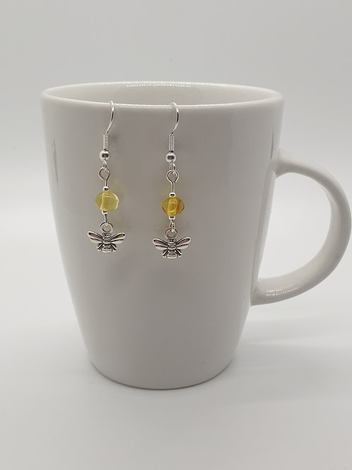 Amber and Bees Earrings