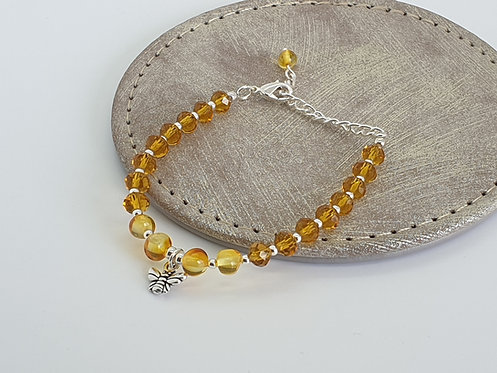 Amber and Bees Bracelet