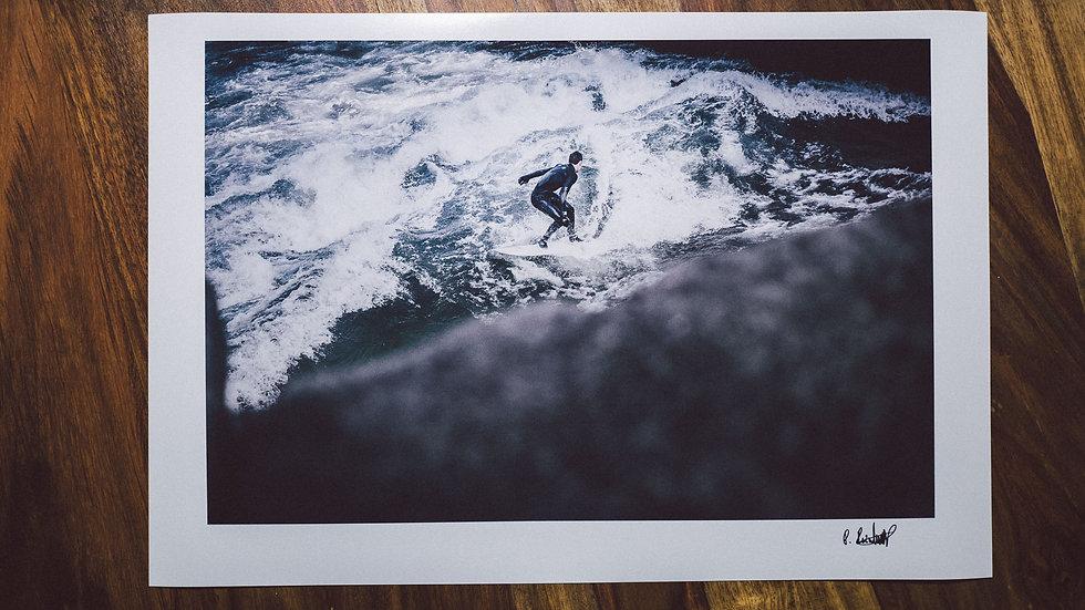 "Photoprint, Motiv ""Cold Surf x Eisbach"", 45cm x 30cm"