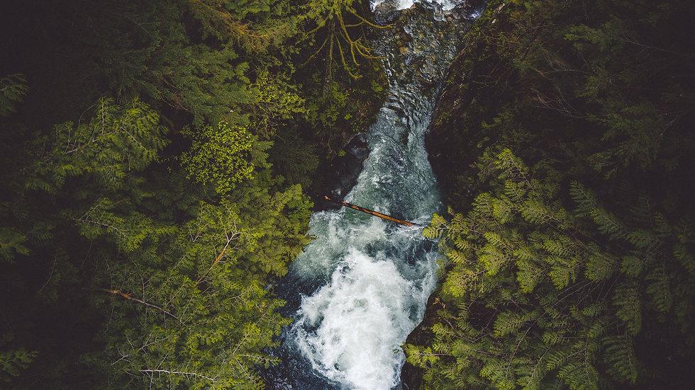 "Photoprint, Motiv ""Waterfall"", 45cm x 30cm"