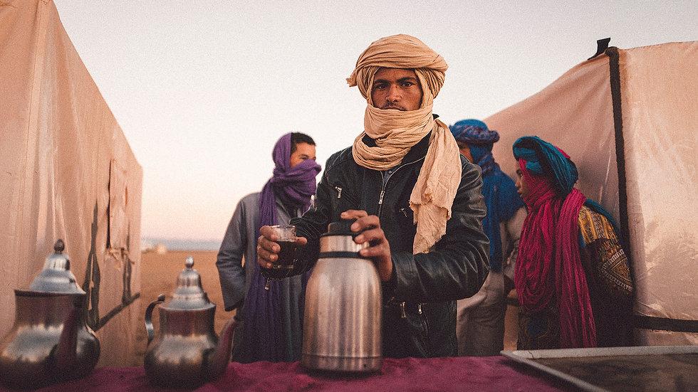"Photoprint, Motiv ""Tee oder Kaffee x Zagora Wüste, Marokko"", 60cm x 40cm"