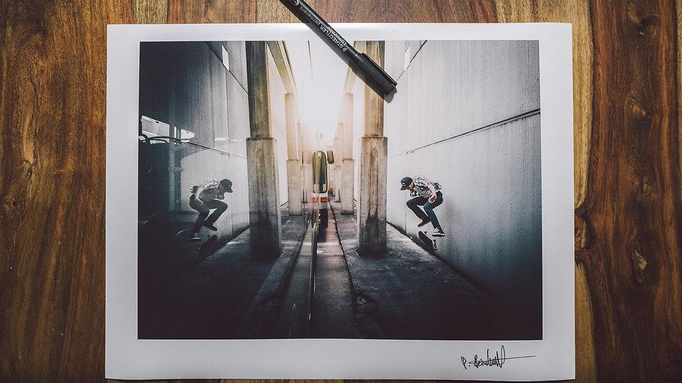 "Photoprint, Motiv ""Skate x Kickflip"", 28cm x 21cm"