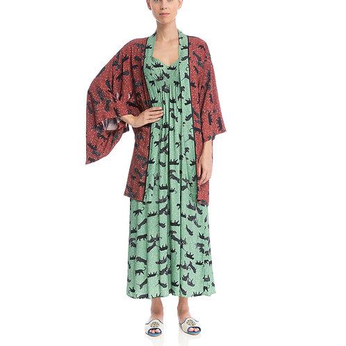 Kimono Curto Safari Wine