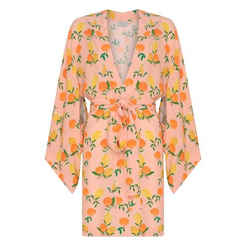 Kimono Curto Cítricos Tangerina