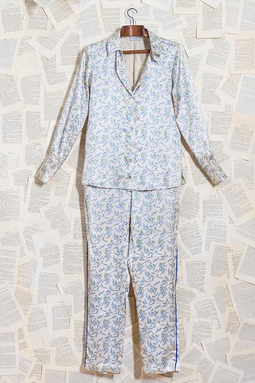 Pijama Seda Pura Liberty Azul