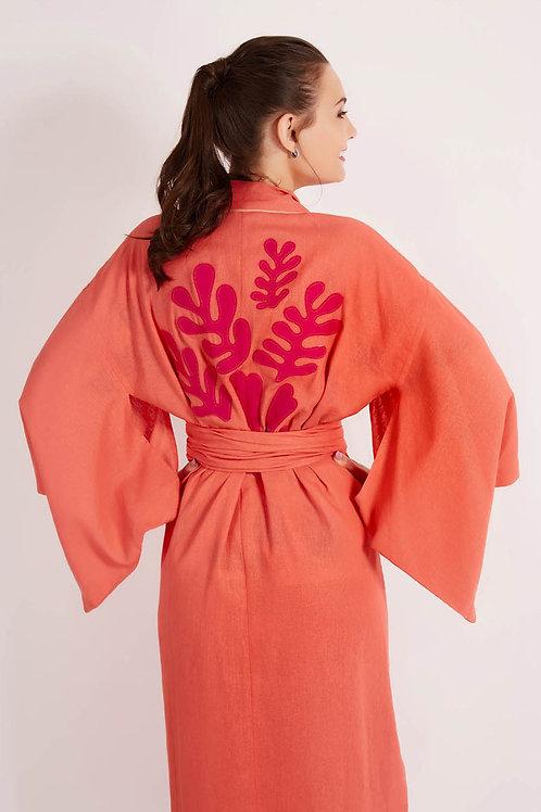 Kimono Midi Matisse Coral