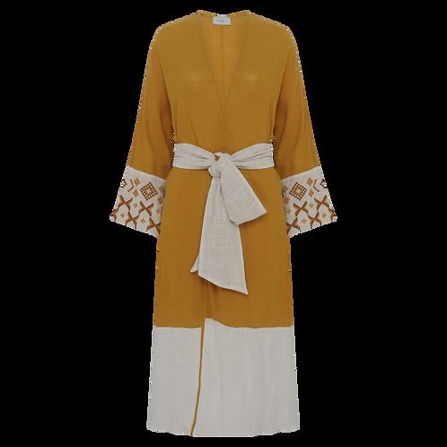 Robe Butão Cítricos Mostarda