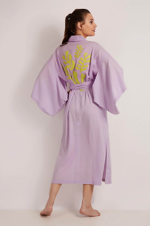 Kimono Midi Matisse Lilas