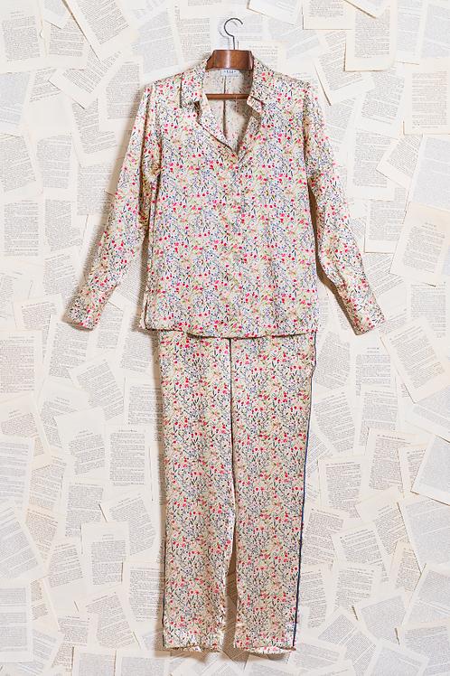 Pijama Seda Pura Liberty Rosa