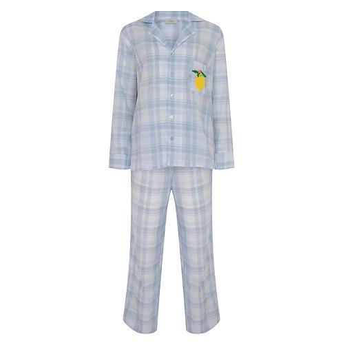 Pijama Cítricos  Vichy Azul
