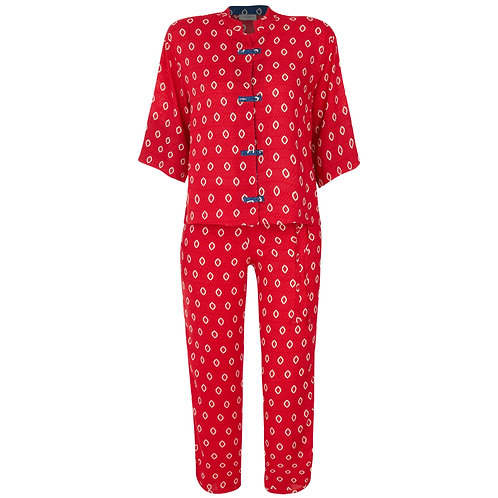 Pijama Oriental Agra Red