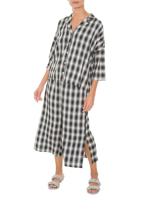 Pijama Manga Curta Xadrez