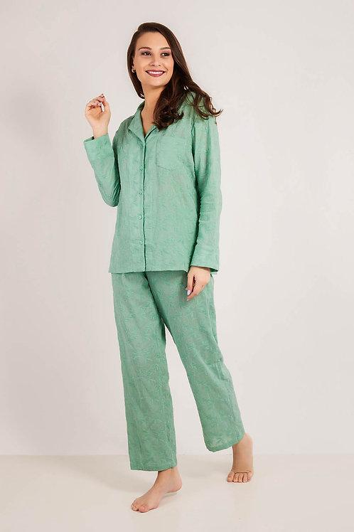 Pijama Bordado Verde