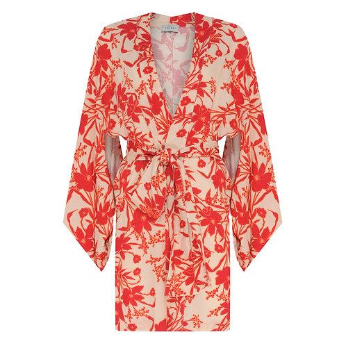 Kimono Curto Maui Red