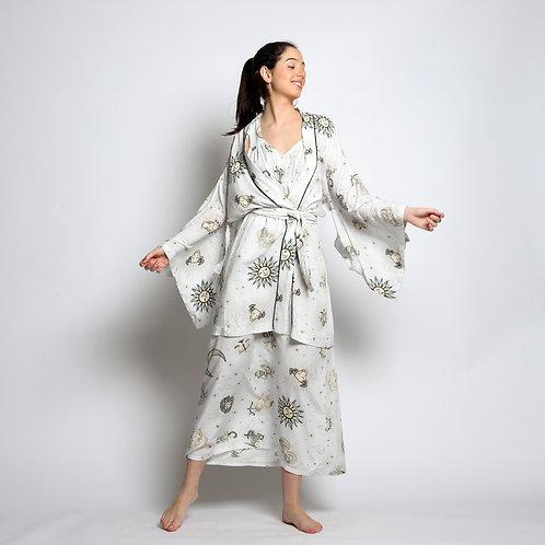 Kimono Curto Signos Branco