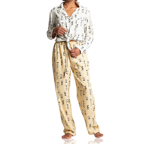 Pijama Candy Amarelo