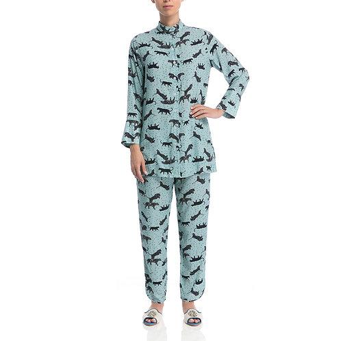 Pijama Chines Safari Água