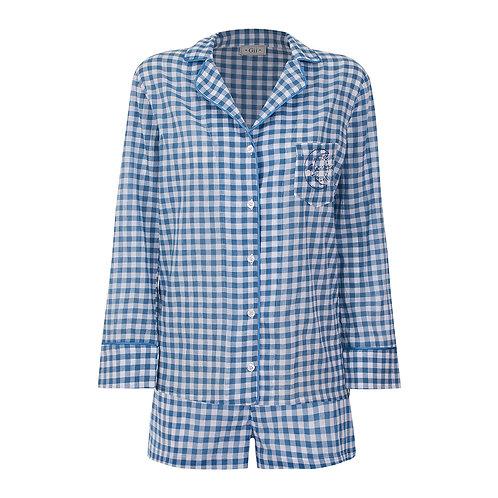 Conj. Shorts Vichy Azul