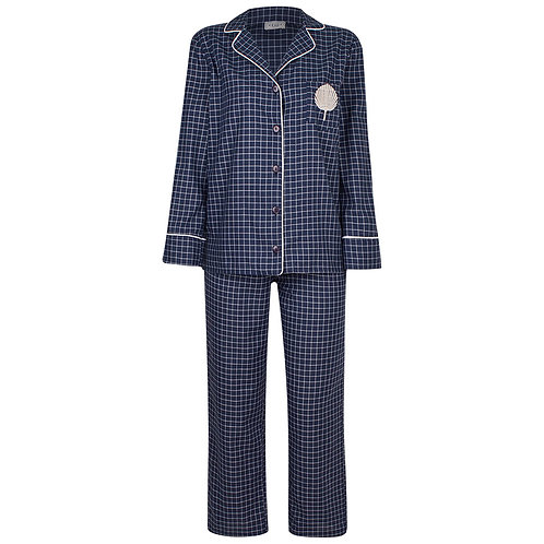 Pijama Xadrez Marinho